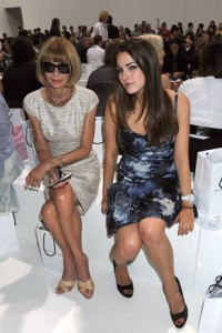 fashion week Anna Wintour et sa fille Bee Schaffer
