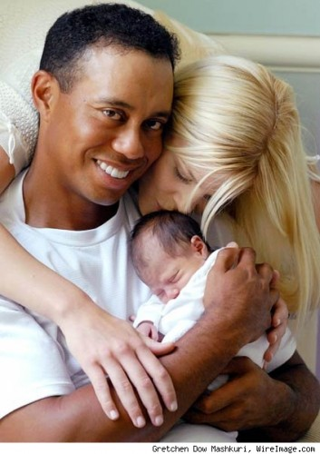 tiger woods famille